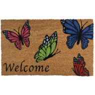 Welcome Butterflies Coir Doormat (Case Pack - 4)