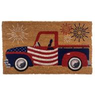 Patriotic Truck Coir Doormat (Case Pack - 4)