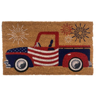 Patriotic Truck Coir Doormat (Case Pack - 4)