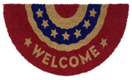 Patriotic Bunting Coir Doormat (Case Pack - 4)