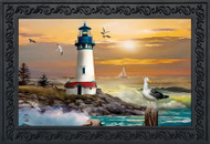 Sunset Lighthouse Doormat