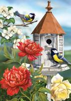 Home Sweet Birdhouse House Flag