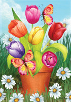 Potted Tulips Garden Flag