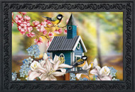 Peaceful Birdhouse Doormat