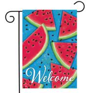 Watermelon Welcome Garden Flag