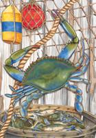 Blue Crab Bushel Garden Flag