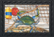 Blue Crab Bushel Doormat
