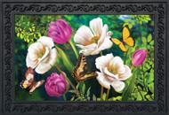 Butterflies And Poppies Doormat