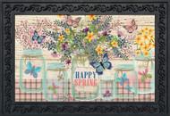 Happy Spring Mason Jar Doormat