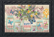 Happy Spring Mason Jar Doormat