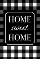 Home Sweet Home Checkers Garden Flag