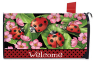 Ladybugs on Leaves Mailbox Cover