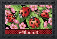 Ladybugs on Leaves Doormat