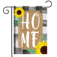 Farm House Home Burlap Garden Flag