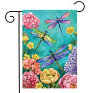 Dragonfly Garden Garden Flag