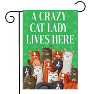 Cat Lady Garden Flag