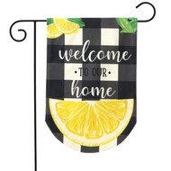 Welcome To Our Home Burlap Garden Flag
