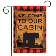 Welcome To Our Cabin Garden Flag