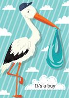 It's A Boy Stork Garden Flag