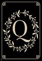 Classic Monogram Letter Q Garden Flag