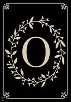 Classic Monogram Letter O Garden Flag