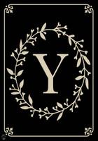Classic Monogram Letter Y Garden Flag
