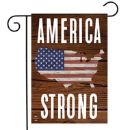 America Strong Double-Sided Garden Flag