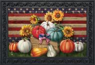 Patriotic Pumpkins Doormat