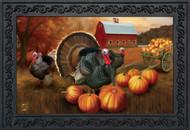 Autumn Turkeys Doormat