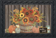 Hello Fall Floral Doormat