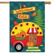 Welcome Fall Camper House Flag