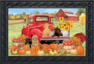 Fall Puppies Doormat