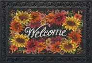 Fall Flowers Welcome Doormat