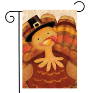 Thanksgiving Turkey Pilgrim Garden Flag