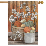 Pumpkins and Willows House Flag