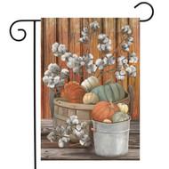 Pumpkins and Willows Garden Flag