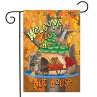 Welcome Fall Nuthouse Garden Flag