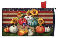 Patriotic Pumpkins Mailbox Cover