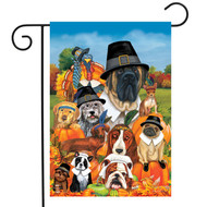 Give Thanks Dogs Garden Flag