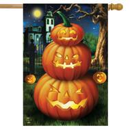 Spooky Jack O'Lanterns House Flag
