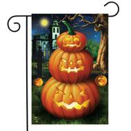 Spooky Jack O'Lanterns Garden Flag