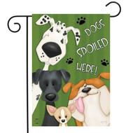 Spoiled Dogs Garden Flag