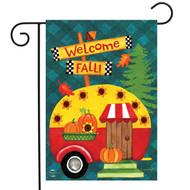 Welcome Fall Camper Garden Flag