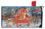 Snow Day Gathering Mailbox Cover