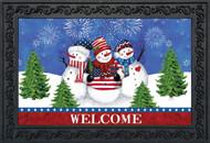 American Snowmen Doormat