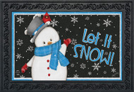 Jolly Winter Snowman Doormat