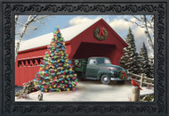 Snow Covered Bridge Doormat