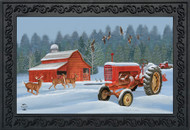 Winter On The Farm Doormat