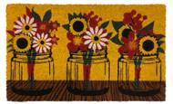 Fall Mason Jars Coir Doormat (Case Pack - 4)