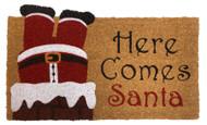 Here Comes Santa Coir Doormat (Case Pack - 4)